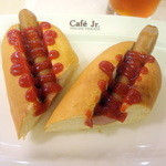 イタリアン・トマトカフェジュニア - ホットドッグモーニングセット390円