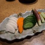 日本酒と個室居酒屋 農家の慶 - おしんこ