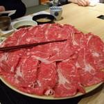 Genjisouhonten - 【かにと黒毛牛しゃぶコース】しゃぶしゃぶ肉(黒毛牛肉)