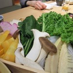Genjisouhonten - 【かにと黒毛牛しゃぶコース】野菜