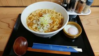 うどん屋 どん伝 - カレーうどん(温玉付き)