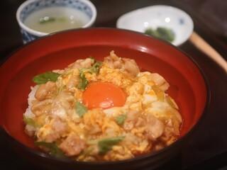 難波 鳥幸 - ◆八ヶ岳卵の親子丼 1,200円(税別)