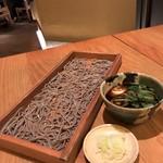 板蕎麦 香り家 - 料理写真:鴨汁そば切り  蕎麦は二八