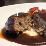 カフェ カナル 1610 - ハンバーグランチ(赤ワイン風味のデミグラスソース)