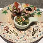 百花繚蘭 - お刺身 タコ、海老、ヌタ和え