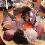 海鮮酒場 魚波 - お刺身盛り合わせ