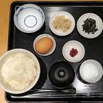 鯛茶福乃 - 名古屋コーチン卵かけ