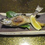 親和苑 - 高森産山女魚の塩焼き