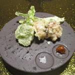 親和苑 - 飯蛸と山菜の天婦羅