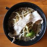 神戸ちぇりー亭 - ド根性の醤油(780円、真上から)