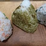 新潟ゆのたに心亭 - 料理写真:(左)紅鮭、(中)おぼろ昆布、(右)しらす高菜?