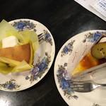 ふじわら - Wチーズケーキと金時芋のケーキ
