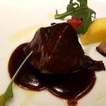 代官山ASO チェレステ - 牛頬肉のポルト酒煮込み 安納芋のピュレと共に