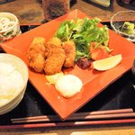 ざくろ - カキフライ定食