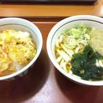 山田うどん - 【かき揚げ丼Aセット¥620(税込)】 たぬきうどん付き