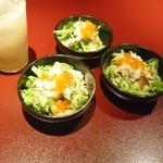 鉄板焼 黒田屋 - カニのサラダ
