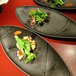 鉄板焼 黒田屋 - イカと菜の花