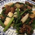 中華料理 八戒 - ほろほろ鳥のレバニラ