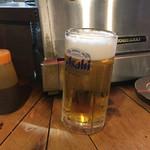 居酒屋 葉牡丹 - 先ずは生ビール