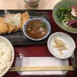 本格炭火串焼 あおば - めかじきの竜田揚げ定食 800円