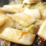 鶴橋風月  - 「いかの醤油バター焼き」醤油バターの香ばしさといかのプリプリ食感がたまらない!