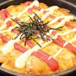 鶴橋風月 - ◆春限定◆「焼きポテ明太チーズ」明太チーズ×ポテトサラダ♪こんがりホクホクおいしい◎