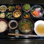 食と酒 いちたろう - いちたろう御膳(天ぷら、デザート、コーヒー付:1500円)