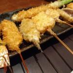 新宿 立吉 - お昼から串揚げ。