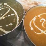 インド料理 ガンディ2 - ホウレン草キーマ&チキン