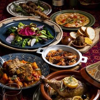 世界のお料理をボーダレスに巡るnomad(遊牧民)なメニュー