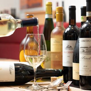 多彩なワインやビールから、お好みの一杯をお探しください