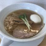 頂湯 sora - 料理写真:醤油ラーメン+味玉