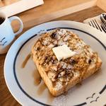 うのまち珈琲店 - ナッツとメープルシロップがたっぷりのった、トーストセット(о´∀`о)