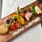 KUJIRA - 料理写真:全て国産の旨味たっぷりの野菜を使用。特製ブラウンソースとの相性が GOOD! トリュフソルト添え