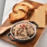 KUJIRA - 料理写真:豚肉と野菜をじっくり 3 時間コトコト煮込んだペーストにバケットを添えて。 どんなお酒とも合います。 タイム(ハーブ)の味が病みつきになります。