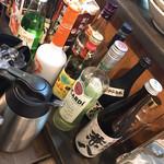 鉄板酒場 茶坊主 - アルコールセルフコーナー