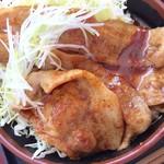境川パーキングエリア (上り線) - 富士桜ポーク二種盛り丼 1000円