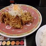 麺家 津田四川 - セットの唐揚げ