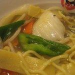 茨珍麺飯食堂 - 野菜ぶつ切り