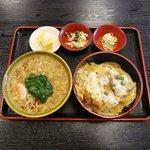 おそば 水信 - 料理写真:小かつ丼+小たぬきそばセット