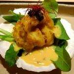 天麩羅とお蕎麦 三輪 - 帆立のオーロラソース