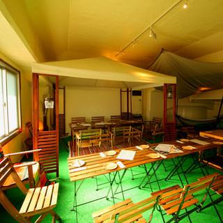 安心な室内で大人気のキャンプ・グランピング空間【貸切可能♪】