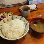 住吉 - 定食(ご飯[大盛り]・お味噌汁・お新香 付)