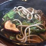 洞ケ峠茶屋 - 山菜(そば) 500円。とてもお安いです。