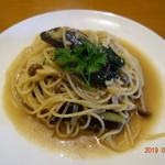 イル・ウエスギ  - ナスととりひき肉の和風スパゲティ(わさび風味)