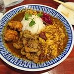 中華料理 八戒 - 3種合いがけ(生ラムクミン炒め、四川麻婆、スパイシー鶏天)