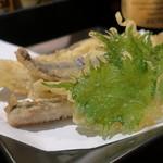 炭火焼 みや澤 - 一本釣りウルメイワシの天ぷら