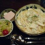 珈琲屋 柚子木庵 - 料理写真:シーフードクリームスパゲッティセット