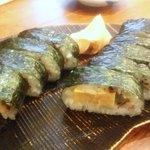 蕎麦切りmasa - 撮影(古いケータイ、2011年)。巻き寿司  950円
