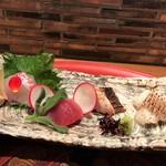 日本料理 つるま - 造里 天然の真鯛 ヨコワ鮪 鰆 穴子